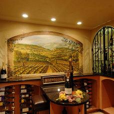 Tropical Wine Cellar by Barenz Builders