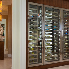 Transitional Wine Cellar by Courchene Development Corp