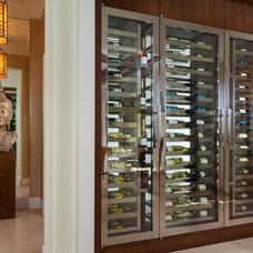 Transitional Wine Cellar by Courchene Development Corp