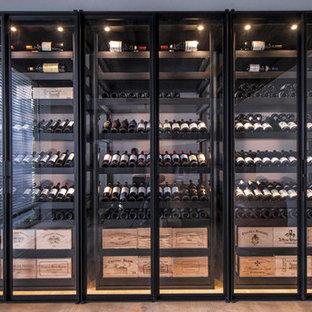 """Bespoke steel wine cabinet """"Sliding"""" - Brugge"""