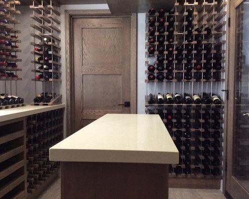 Industrial wine cellar design ideas remodels photos for Wine cellar flooring options