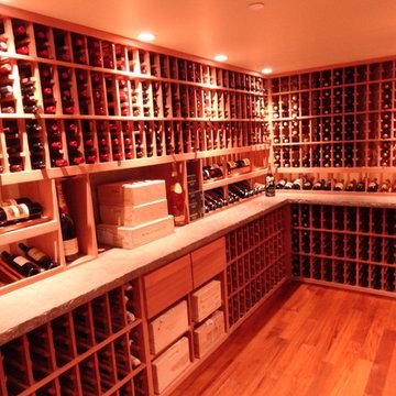 Beverly Hills Los Angeles California Custom Wine Cellar Celebrity Rustic Modern