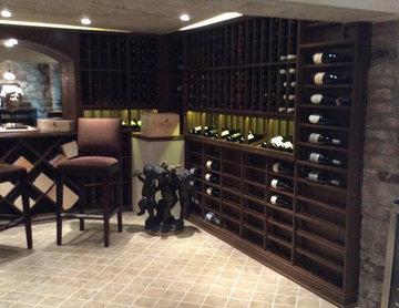 Beverly Hills, Los Angeles California Under House Custom Wine Cellar Wine Room