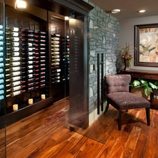 Traditional Wine Cellar by Crystal Creek Homes