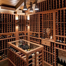 Midcentury Wine Cellar by Susan Jay Design