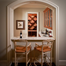 Traditional Wine Cellar by Thompson Custom Homes