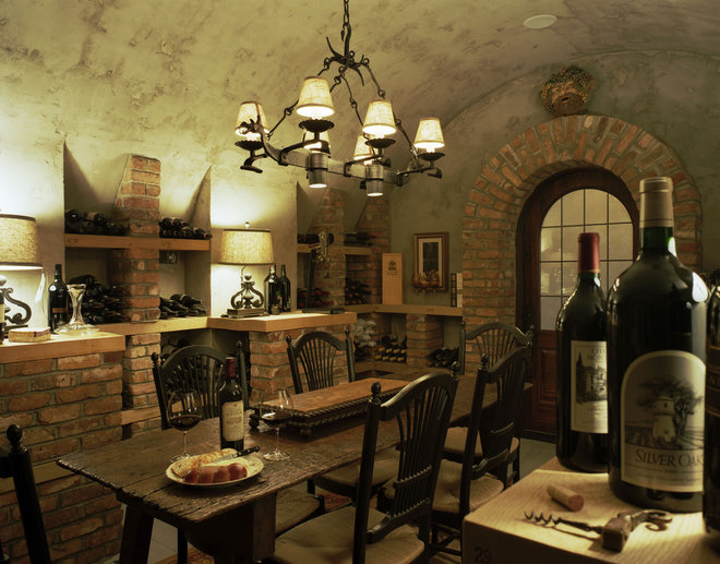 Rustic Wine Cellar by Summerour Architects