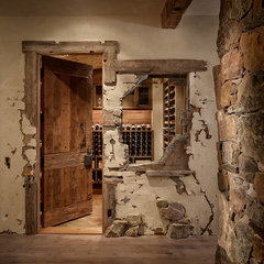 contemporary wine cellar by Highline Partners, Ltd