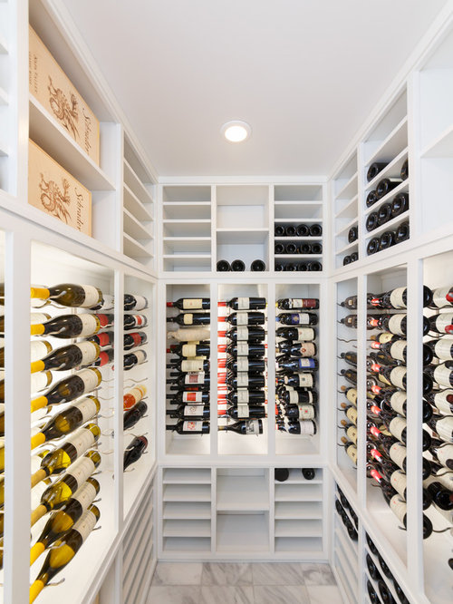 Wine closet houzz for Turn closet into wine cellar