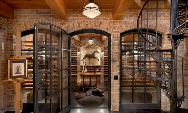 Transitional Wine Cellar by Bruce Fox