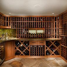 Traditional Wine Cellar by Elise Fett & Associates, Ltd.