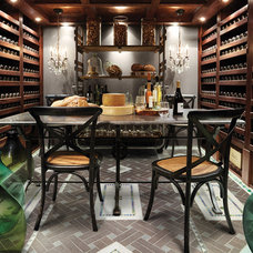 Traditional Wine Cellar by Arhaus