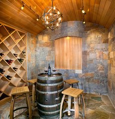 contemporary wine cellar by New Mood Design LLC