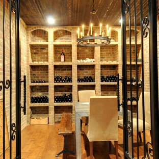 Photo of a shabby-chic style wine cellar in Atlanta.