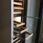 Vin De Garde Custom Stainless Steel Wine Cabinet Modern