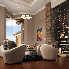 Contemporary Wine Cellar by Christopher Burton Homes, Inc.