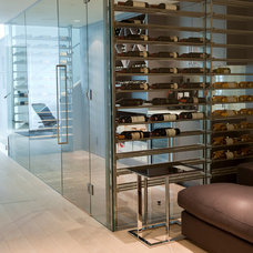Contemporary Wine Cellar by Tanya Schoenroth Design