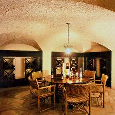 Mediterranean Wine Cellar by Bushman Dreyfus Architects