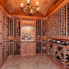 Mediterranean Wine Cellar by LMK Interiors LLC