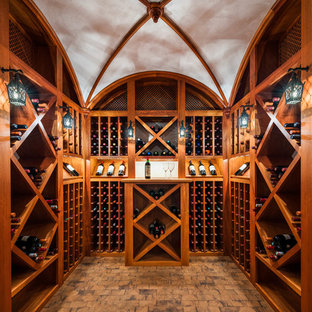 Design ideas for a large victorian wine cellar in Philadelphia with cube storage.