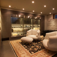 Contemporary Wine Cellar by Cable Wine Systems