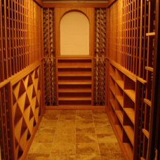 Contemporary Wine Cellar by WineRacks.com