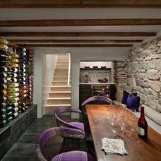 Mediterranean Wine Cellar by Architectural Alliance Inc.