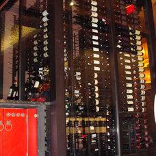 Modern Wine Cellar by Wine Cellars by Coastal