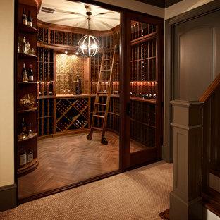 Inspiration för klassiska vinkällare, med vinhyllor
