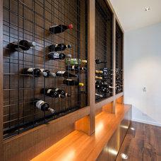 Contemporary Wine Cellar by Dig Design