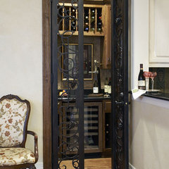 traditional wine cellar by Catherine Dolen & Associates