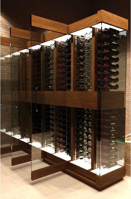 Contemporary Wine Cellar Cave a Vin Design