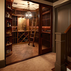 Traditional Wine Cellar by Carolina Design Associates, LLC