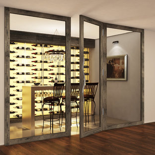 Inspiration for a contemporary wine cellar in London.