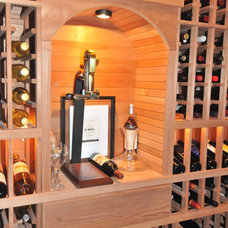 Traditional Wine Cellar by Scott Daves Construction Co., Inc