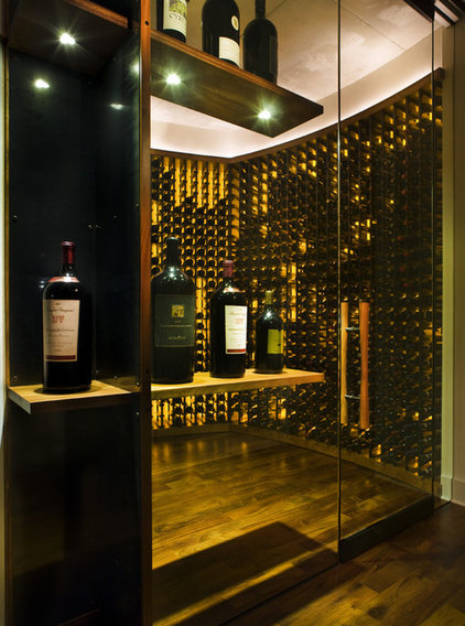 Contemporary Wine Cellar by Cottam Hargrave