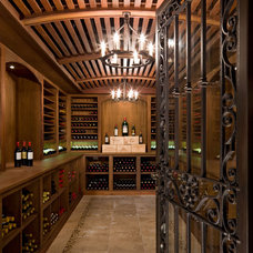 Traditional Wine Cellar by Neumann Lewis Buchanan Architects