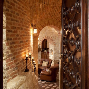 Example of an eclectic wine cellar design in Denver