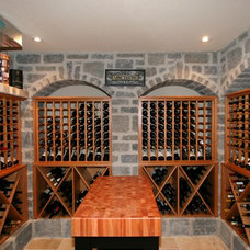 Traditional Wine Cellar by Belaire Custom Cabinetry