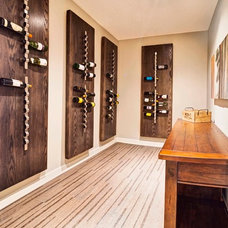 Contemporary Wine Cellar by West Ridge Fine Homes
