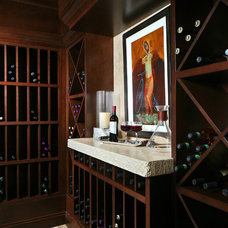 Mediterranean Wine Cellar by London Bay Homes