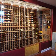 Contemporary Wine Cellar by Chicago Wine Cellar Expert Inc.