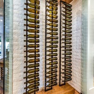 Wine cellar - transitional wine cellar idea in Los Angeles