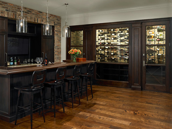 Traditional Wine Cellar by Reynolds Architecture- Design & Construction