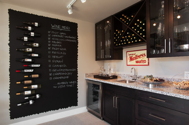 Transitional Wine Cellar by i3 design group