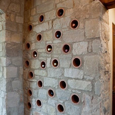 Mediterranean Wine Cellar by Rick O'Donnell Architect
