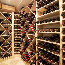 Traditional Wine Cellar by OLSON LEWIS + Architects