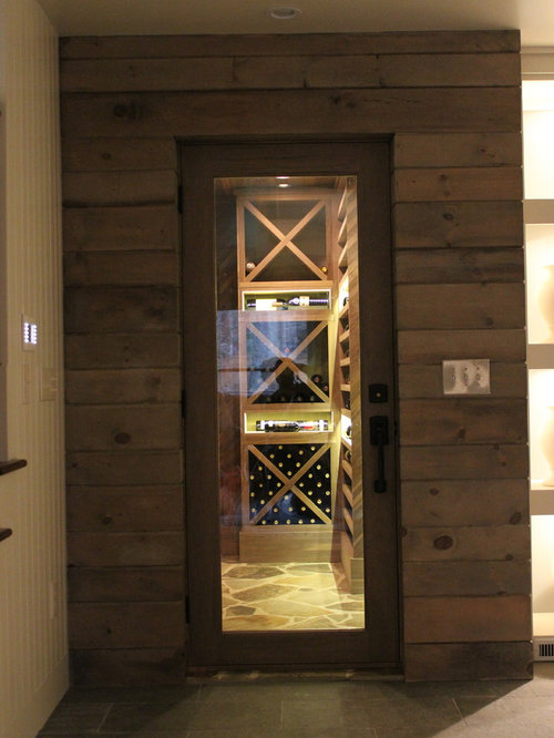 Unstained Black Walnut Custom Wine Cellar