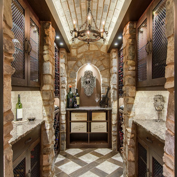Closet converted into a Custom Wine Cellar