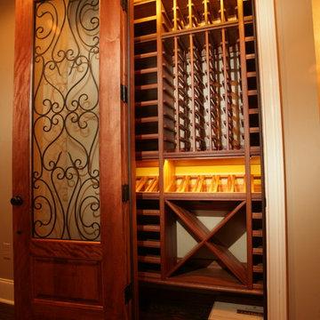 Closet Converted to Wine Cellar